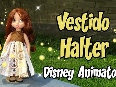 Vestido Halter DIY para muñecas Animators Costura Tutorial