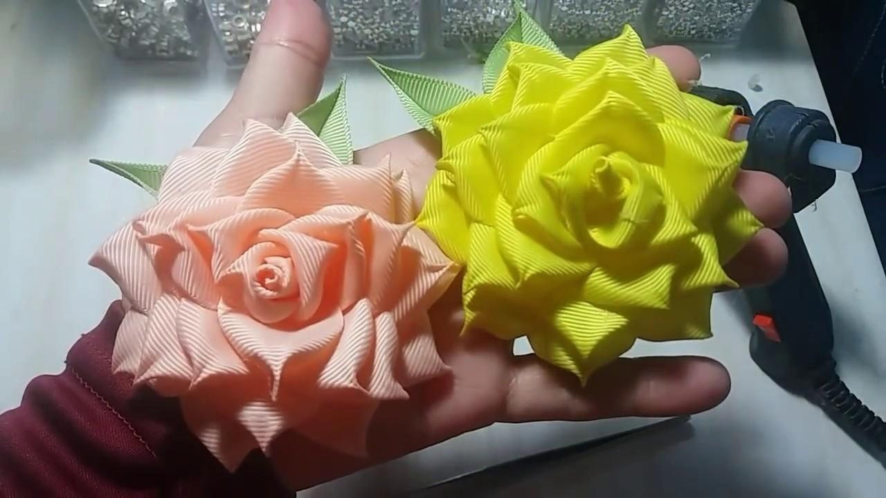 39) DIY - Tutorial || Cara Membuat Bros Mawar Cubit || How to Make Pinched Ribbon Rose