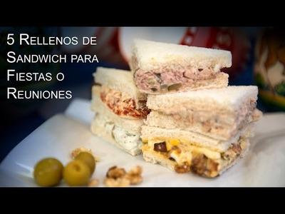 5 Rellenos de Sandwich para Fiestas o Reuniones