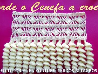 Borde, Orilla, Puntilla o Cenefa a crochet PASO A PASO EN VIDEO TUTORIAL para colchas