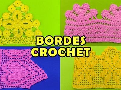 Bordes u Orillas tejidos a crochet - colección de puntos