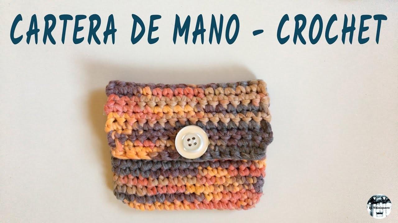 Cartera de mano - Fácil y rápida - Crochet