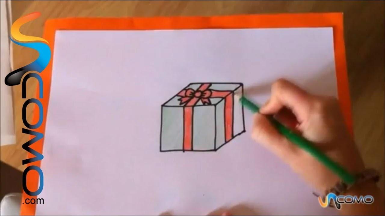 Cómo dibujar un regalo