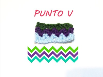Cómo hacer el Punto V a ganchillo | how to make V stitch crochet