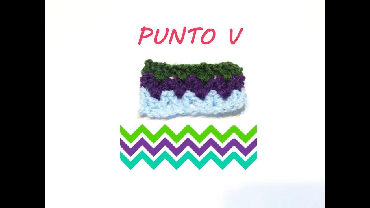 Cómo hacer el Punto V a ganchillo | how to make V stitch crochet