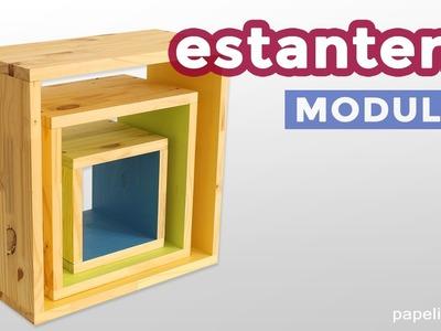 Cómo hacer estanterías cuadradas (3 cubos desiguales)