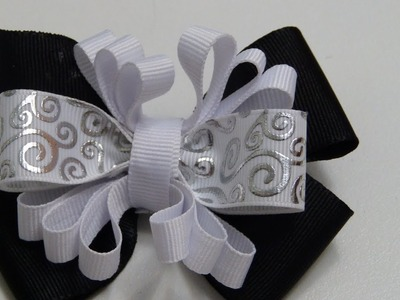 Como Hacer Lazos.Moño en Cinta Gros Tutorial.How to Make Ties. Ribbon Bow Gros Tutorial