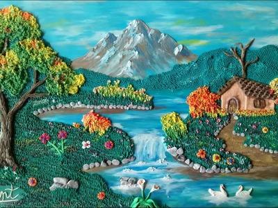 Como hacer un paisaje en plastilina parte 2 el agua y la tierra