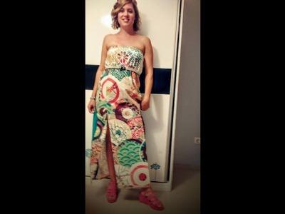 Como hacer un vestido largo de desigual