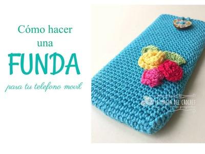 Cómo hacer una funda para tu telefono movil a crochet.ganchillo.uncinetto.häkeln ----Denice