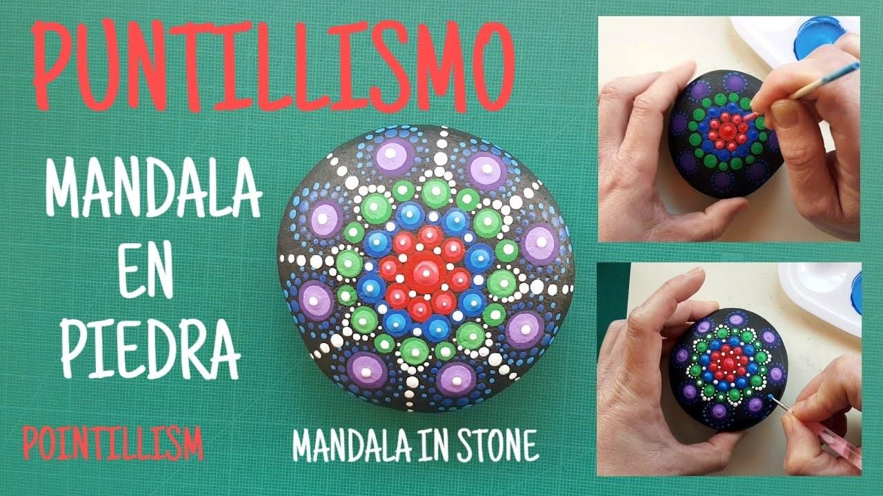 Como pintar mandalas en piedras - How to paint mandalas in stones