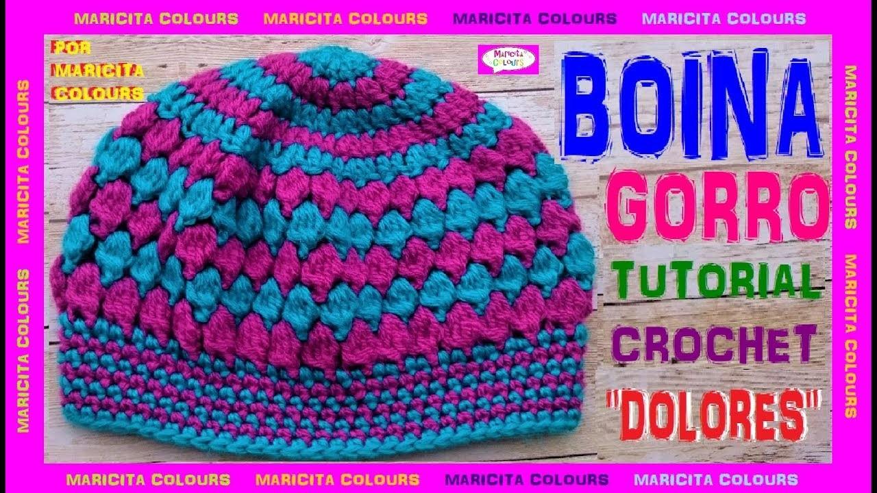 """Cómo tejer una Boina a crochet """"Dolores"""" por Maricita Colours"""