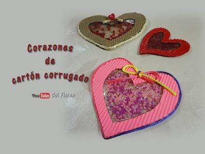 Corazones de cartón corrugado - Corrugated cardboard cores