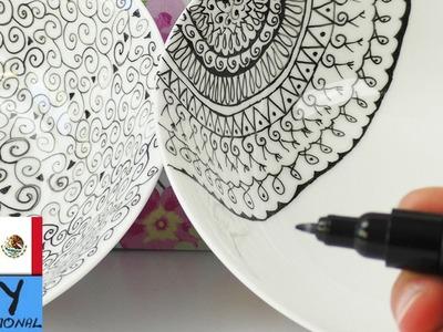 Decoración de platos de cerámica | Con marcador