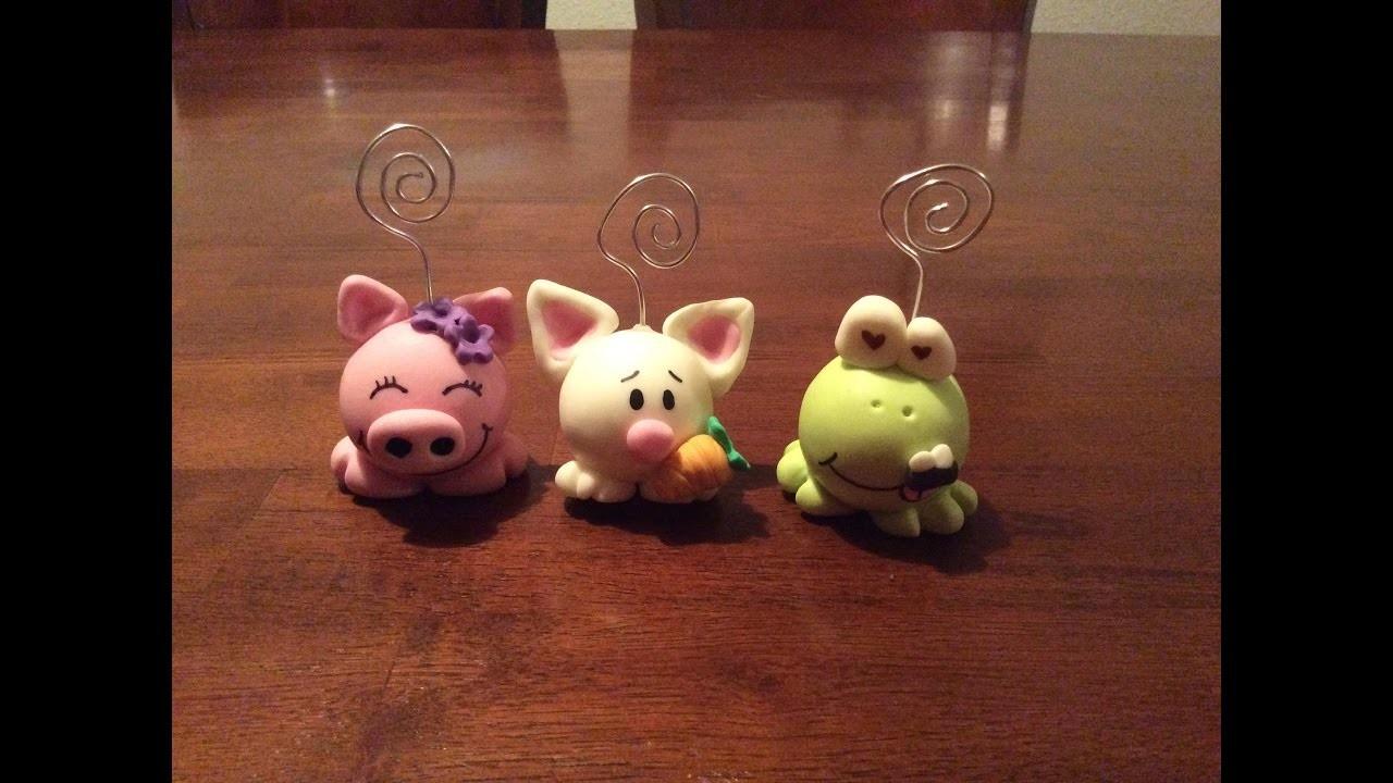 DIY Portanotas de Animales. Animals Card Holders (Porcelana fria. Cold Porcelain)