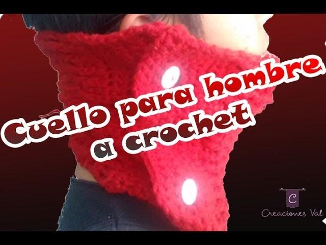 ESPECIAL DÍA DEL PADRE - Cuello a crochet para hombre (Labor breve)