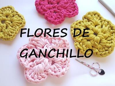 FLOR DE GANCHILLO - CROCHET 5 PETALOS
