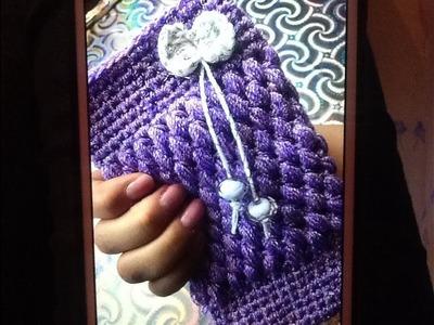 Funda tejida a crochet para celular facilísimo ! La amaras