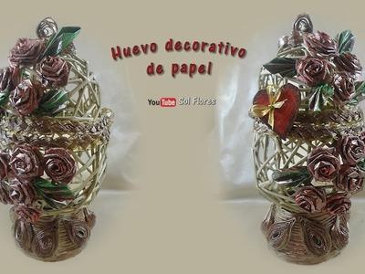 Huevo decorativo de papel - Paper decorative egg