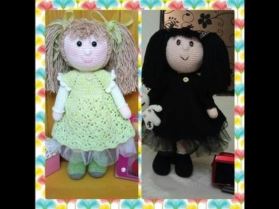 """Muñeca Angie a Crochet video 3 """"CABEZA""""versión (ZURDO)"""