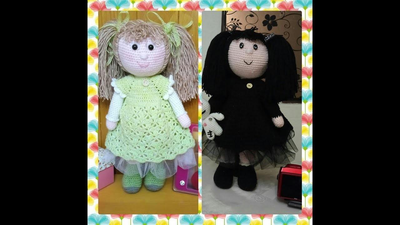 Muñeca Angie a Crochet video 6 COMO PONER EL PELO