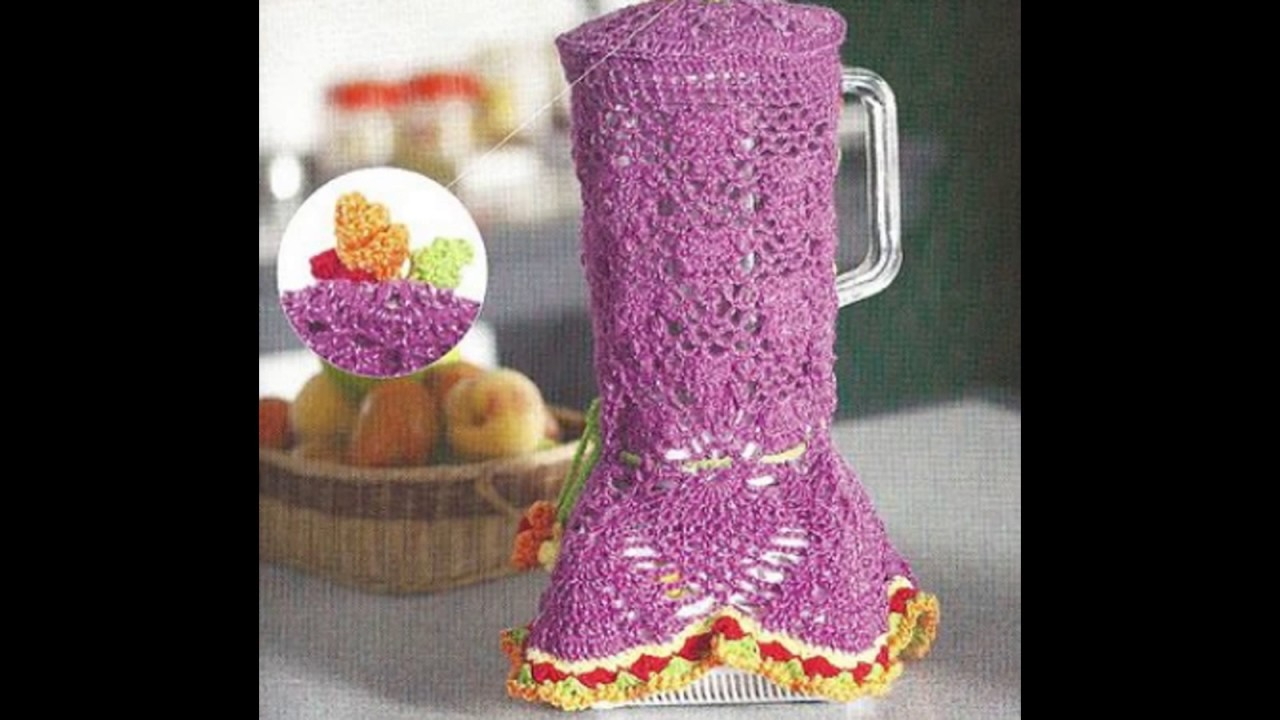 Porta licuadoras tejidas en crochet♥