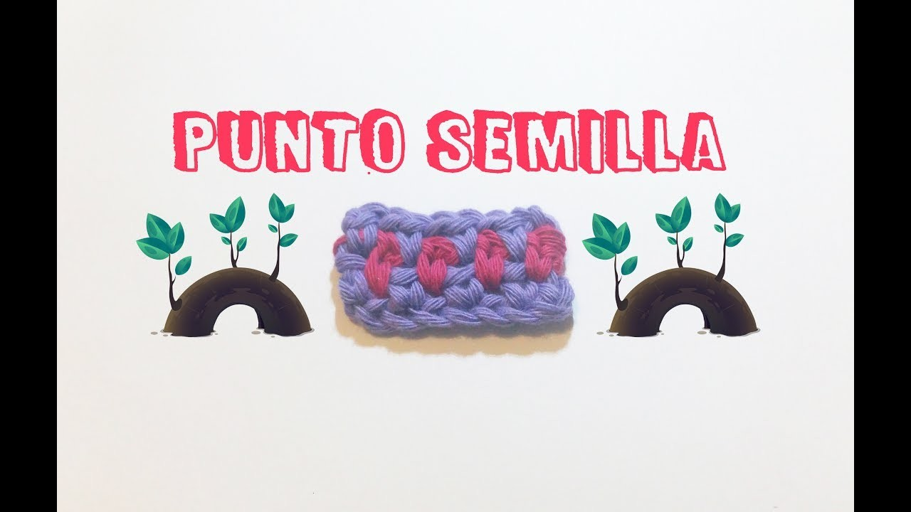 Punto semilla | How to make seed stitch