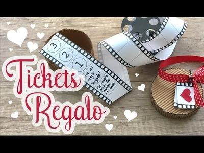 Tickets regalo para San Valentín  - Versión Pelicula