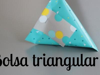 BOLSA TRIANGULAR para EVENTOS o pequeños regalos - PAPER POUCH