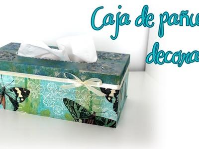 Caja de madera decorada con servilleta