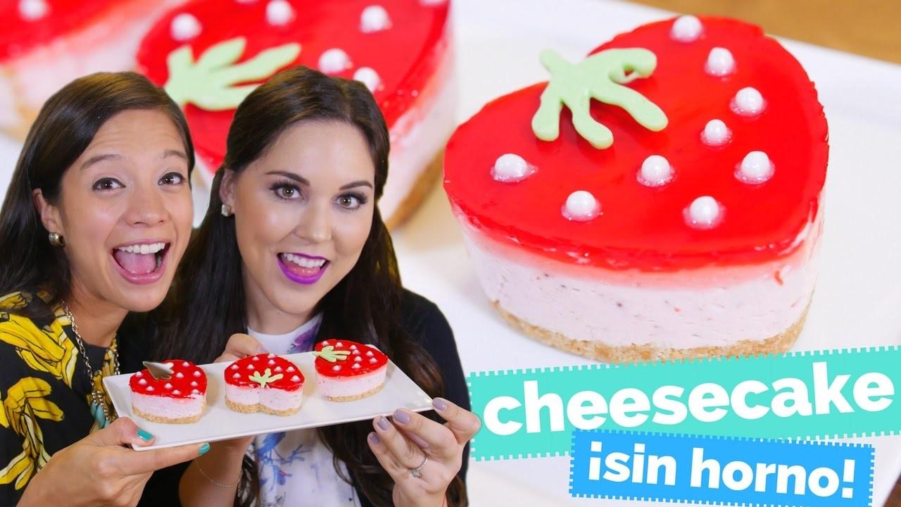 Cheesecake de fresa (SIN HORNO) con KARLA CELIS ♥ - La Cooquette