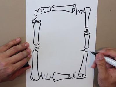 Cómo dibujar un mapa antiguo - How to draw an old map