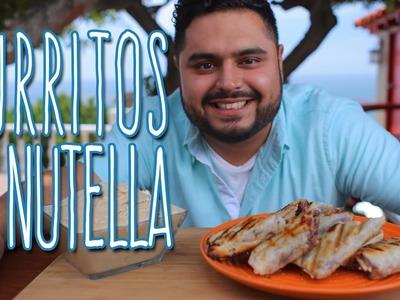 Cómo hacer Burritos Dulces con Nutella y Plátano - El Guzii - mitú