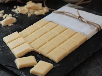 Cómo hacer chocolate blanco casero (sin lactosa o vegano)