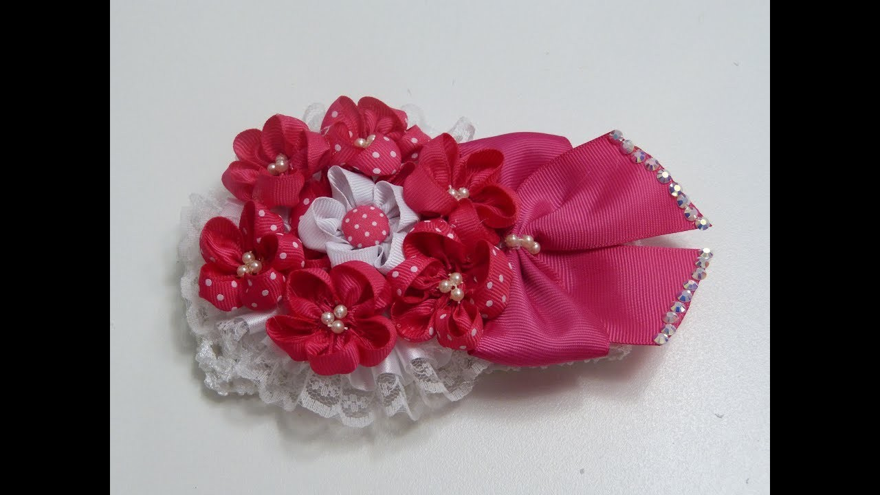 Como Hacer Flor  pequeñas con listón,How to make small flowers with ribbon