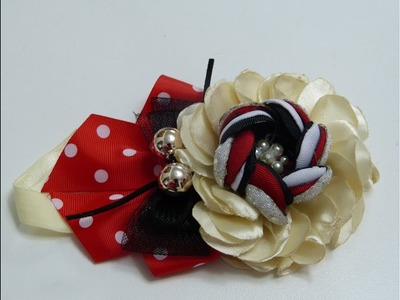 Como Hacer  Flores conTela,  How To Make Hair Bows, Manualidades la hormiga