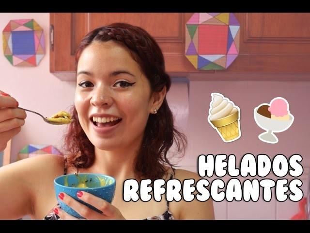 Cómo hacer helados deliciosos SIN MÁQUINA! | Nom Nom