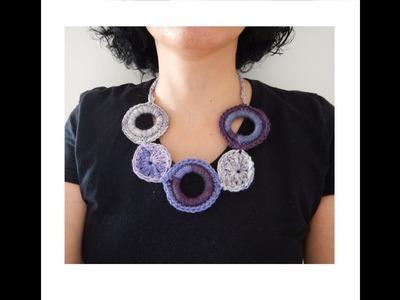 Cómo hacer un collar circular en crochet DIY  Popirus Crafts ????????