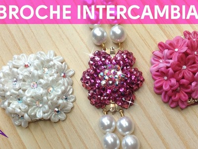 DIY Broche de Swarovski intercambiable para collar de perlas