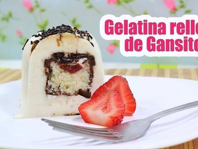 GELATINA RELLENA DE GANSITO (receta -  gelatina de leche - muy fácil)   Mirem Itziar ❤