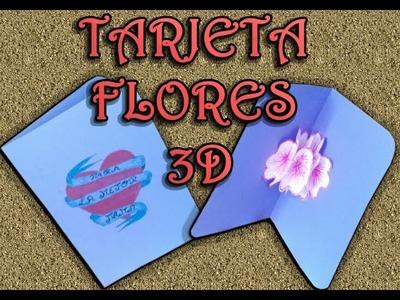 LA MEJOR TARJETA REGALO PARA EL DIA DE LA MADRE (FLORES 3D)