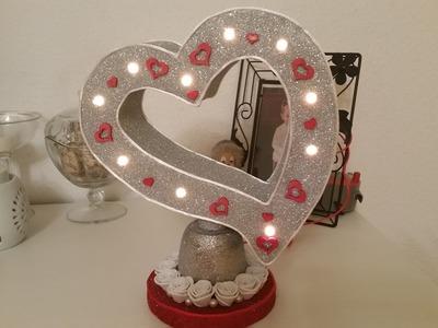 Lampara de corazon decorativa para san valentin