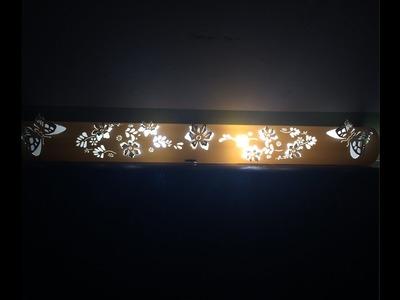 Lámpara de PVC pared Mariposas y flores 3D. PVC wall lamp Butterflies and flowers 3D
