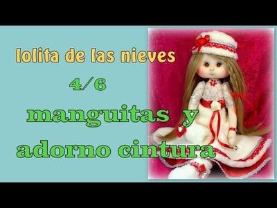 Muñeca lolita de las nieves ,  las manguitas y adorno de la cintura ,4.6 video- 228