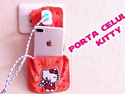 Porta Celular de Hello Kitty Fácil y Sencillo