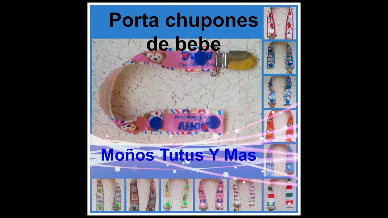PORTA CHUPON SIN COSTURA Paso a Paso PACIFIER CLIPS NO SEWING Tutorial DIY How To PAP Video 43