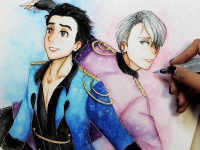 Speed Drawing: Yuri and Viktor (Yuri!! on Ice ユーリ!!! on ICE) | Diana Díaz