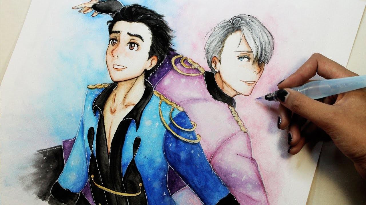 Speed Drawing: Yuri and Viktor (Yuri!! on Ice ユーリ!!! on ICE)   Diana Díaz