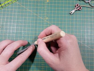 Tiras estrechas con prensador de dedo y pegamento