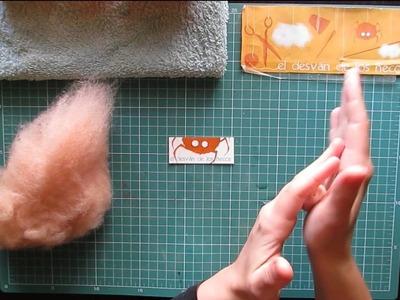Videotutoriales de lana cardada 3.Técnicas básicas: Palitos.